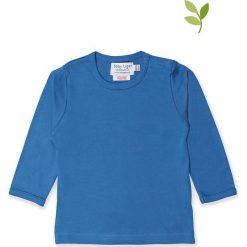 Koszulka w kolorze niebieskim. Niebieskie bluzki dziewczęce bawełniane Toby Tiger, z okrągłym kołnierzem, z długim rękawem. W wyprzedaży za 42,95 zł.