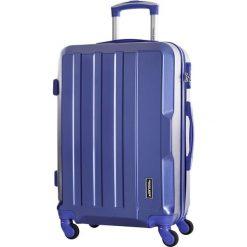 Walizka w kolorze niebieskim - 34 l. Niebieskie walizki marki Travel One, z materiału. W wyprzedaży za 179,95 zł.