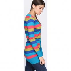 Niebieski Sweter Miracles. Niebieskie swetry rozpinane damskie marki Born2be, l. Za 29,99 zł.