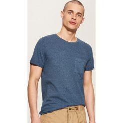 T-shirt z kieszonką - Granatowy. Niebieskie t-shirty męskie marki House, l. Za 39,99 zł.