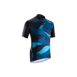 Koszulka na rower MTB ST 500 męska. Niebieskie odzież rowerowa męska marki QUECHUA, m, z elastanu. Za 79,99 zł.