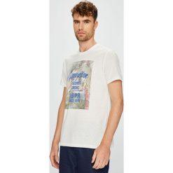 U.S. Polo - T-shirt. Szare koszulki polo marki U.S. Polo, l, z nadrukiem, z dzianiny. W wyprzedaży za 129,90 zł.