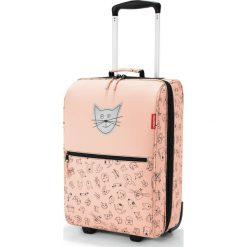Walizka Trolley Kids XS Cats and Dogs brzoskwiniowa. Pomarańczowe walizki Reisenthel, w kolorowe wzory, z materiału, duże. Za 379,00 zł.