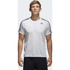 Adidas Koszulka D2M TEE 3S Biały r. M (BK0971). Białe koszulki sportowe męskie marki Adidas, l, z jersey, do piłki nożnej. Za 93,45 zł.