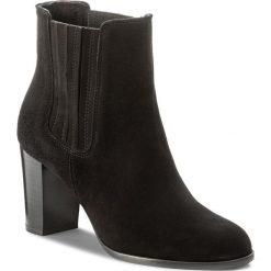 Botki GINO ROSSI - Frida DSH550-S47-4900-9900-F 99. Czarne buty zimowe damskie marki Gino Rossi, z materiału, na obcasie. W wyprzedaży za 289,00 zł.
