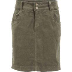 Spódniczki: Spódnica sztruksowa bonprix ciemnooliwkowy