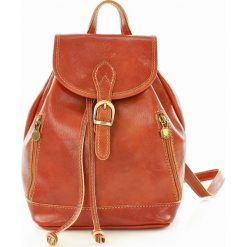 Plecaki damskie: CELESTA Włoski plecak skórzany camel