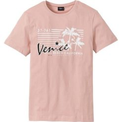 T-shirty męskie z nadrukiem: T-shirt Regular Fit bonprix jasnoróżowy