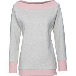 Bluza dresowa, długi rękaw bonprix naturalny melanż. Białe bluzy sportowe damskie bonprix, melanż, z dresówki, z długim rękawem, długie. Za 32,99 zł.