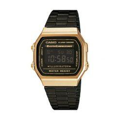 Zegarek męski Casio Retro A168WEGB-1BEF. Czarne zegarki męskie CASIO. Za 301,00 zł.
