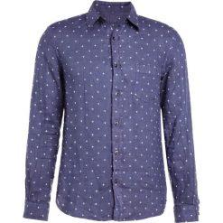 Koszule męskie na spinki: 120% Lino CAMICIA UOMO Koszula dark blue