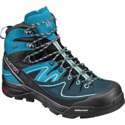 Buty trekkingowe damskie: Salomon Buty damskie X Alp Mid Ltr GTX Black/Hawaiian Ocean/Aruba Blue r. 38 2/3 (394702)