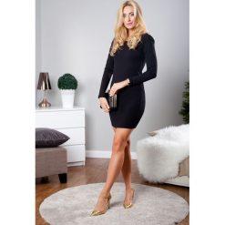 Sukienka mini czarna TA2387. Czarne sukienki Fasardi, l, mini. Za 59,00 zł.