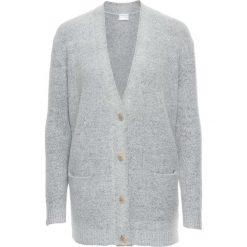 Swetry rozpinane damskie: Sweter rozpinany oversize bonprix jasnoszary melanż