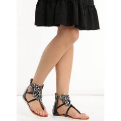 Czarne Sandały Comfort. Szare sandały damskie marki Born2be, na niskim obcasie, na stożku. Za 89,99 zł.