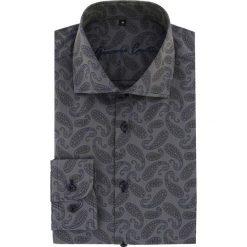 Koszula RICCARDO 16-01-09-K. Niebieskie koszule męskie na spinki marki Giacomo Conti, m, z tkaniny, klasyczne. Za 259,00 zł.