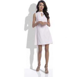 Różowa Trapezowa Wyjściowa Sukienka z Wycięciem przy Stójce. Niebieskie sukienki balowe marki ARTENGO, z elastanu, ze stójką. Za 149,90 zł.
