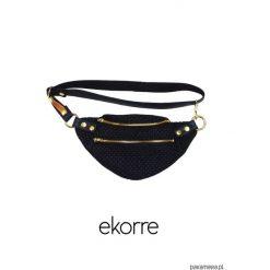 Torebki klasyczne damskie: ekorre plecionka black 002
