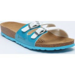 Buty damskie: Klapki w kolorze błękitno-białym