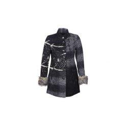 Płaszcze Desigual  CHARLOTTE. Czarne płaszcze damskie pastelowe Desigual. Za 839,00 zł.