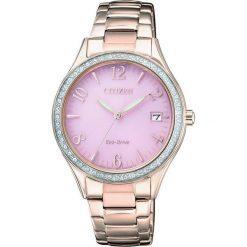 ZEGAREK CITIZEN Lady EO1183-84X. Czerwone, analogowe zegarki damskie CITIZEN, sztuczne. Za 870,00 zł.
