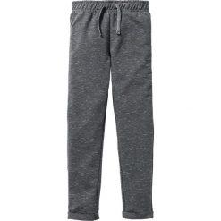 Spodnie dresowe melanżowe bonprix antracytowo-biel wełny melanż. Szare spodnie chłopięce marki La Redoute Collections, z bawełny, z standardowym stanem. Za 32,99 zł.
