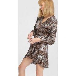 Beżowa Sukienka Waking Up. Brązowe sukienki mini marki other, uniwersalny. Za 119,99 zł.