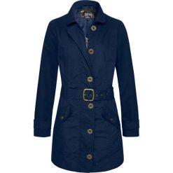 Płaszcz trencz bonprix ciemnoniebieski. Niebieskie płaszcze damskie pastelowe bonprix. Za 129,99 zł.