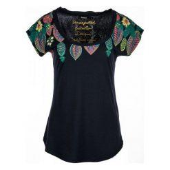 Desigual T-Shirt Damski Circe Xs Ciemnoniebieski. Czarne t-shirty damskie Desigual, l, w kolorowe wzory, z bawełny. Za 150,00 zł.