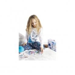 Piżama dziewczęca Kraina Lodu - Frozen we wzory. Szare bielizna dziewczęca marki TXM, z motywem z bajki. Za 20,99 zł.