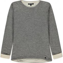Bluza w kolorze szarym. Białe bluzy dziewczęce rozpinane marki Marc O'Polo Junior, z nadrukiem, z okrągłym kołnierzem, z długim rękawem. W wyprzedaży za 145,95 zł.