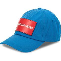 Czapka z daszkiem CALVIN KLEIN JEANS - J K40K400258 450. Niebieskie czapki z daszkiem damskie marki Calvin Klein Jeans, z bawełny. Za 159,00 zł.