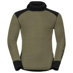 Odlo Koszulka tech. Odlo Shirt l/s with Facemask WARM Revelstoke  - 150642 - 150642/60114/XL. Szare koszulki sportowe męskie marki Odlo, l. Za 216,32 zł.
