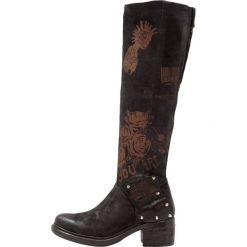 A.S.98 Kowbojki i Buty motocyklowe nero. Czarne buty zimowe damskie marki A.S.98, z materiału. W wyprzedaży za 1007,20 zł.