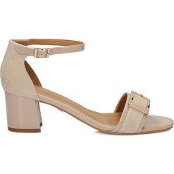 Sandały damskie: Beżowe sandały damskie
