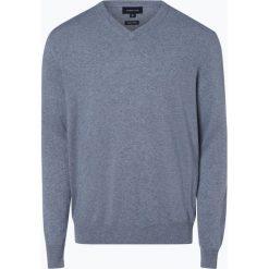 Andrew James - Sweter męski z dodatkiem kaszmiru, niebieski. Niebieskie swetry klasyczne męskie Andrew James, m, z kaszmiru, z dekoltem w serek. Za 229,95 zł.
