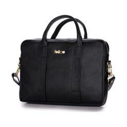SKÓRZANA TORBA NA LAPTOPA DULCE CZARNA BROOKE. Czarne torby na laptopa marki FeliceGold, w paski, z bawełny. Za 399,00 zł.