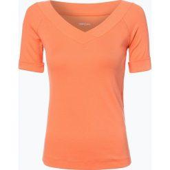Marc Cain Sports - T-shirt damski, pomarańczowy. Brązowe t-shirty damskie Marc Cain Sports, w prążki, z dekoltem w serek. Za 249,95 zł.