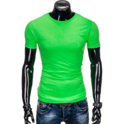 T-shirty męskie z nadrukiem: T-SHIRT MĘSKI BEZ NADRUKU S884 – ZIELONY