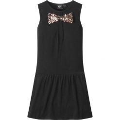 Sukienki dziewczęce: Sukienka z cekinami bonprix czarny