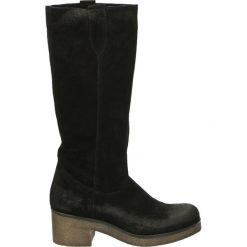 Buty zimowe damskie: Kozaki - 2340 CRO NERO