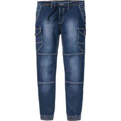 """Dżinsy bez zamka w talii Slim Fit Tapered bonprix ciemnoniebieski """"stone used"""". Niebieskie jeansy męskie relaxed fit marki bonprix, z jeansu. Za 109,99 zł."""