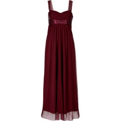 Sukienki: Długa sukienka bonprix czerwony klonowy
