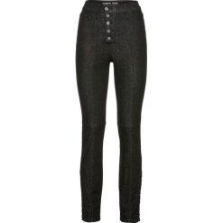 Dżinsy SKINNY ze sznurowaniem bonprix czarny denim. Niebieskie jeansy damskie skinny marki bonprix, z nadrukiem. Za 159,99 zł.