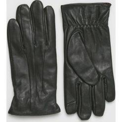Jack & Jones - Rękawiczki skórzane. Czarne rękawiczki męskie Jack & Jones, z materiału. Za 169,90 zł.