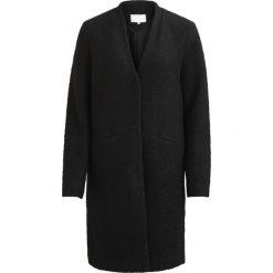 Płaszcze damskie pastelowe: Płaszcz damski, prosty fason, dekolt V