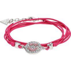 Bransoletki damskie na nogę: Bransoletka z elementem ozdobnym w kolorze różowym