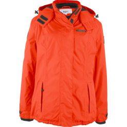 Odzież damska: Kurtka outdoorowa z odpinanym kapturem bonprix czerwona pomarańcza