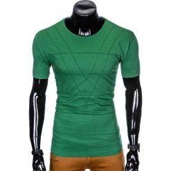 T-SHIRT MĘSKI BEZ NADRUKU S962 - ZIELONY. Czarne t-shirty męskie z nadrukiem marki Ombre Clothing, m, z bawełny, z kapturem. Za 29,00 zł.