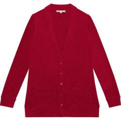Kardigan kaszmirowy w kolorze bordowym. Czerwone kardigany damskie marki Ateliers de la Maille, z kaszmiru. W wyprzedaży za 591,95 zł.